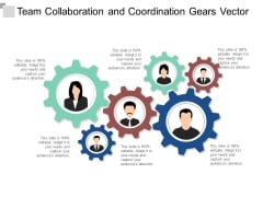 team collaboration and coordination gears vector ppt powerpoint presentation infographic template introduction