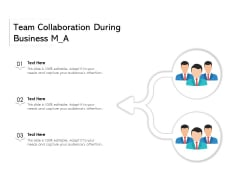 Team Collaboration During Business M A Ppt PowerPoint Presentation Gallery Brochure PDF