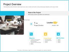 Team Collaboration Of Project Management Project Overview Ppt Slides Portfolio PDF
