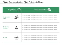 Team Communication Plan Policies And Roles Ppt PowerPoint Presentation Infographic Template Backgrounds
