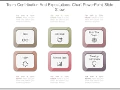 Team Contribution And Expectations Chart Powerpoint Slide Show