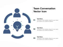 Team Conversation Vector Icon Ppt PowerPoint Presentation Outline Example