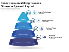 Team Decision Making Process Shown In Pyramid Layout Ppt PowerPoint Presentation Gallery Templates PDF