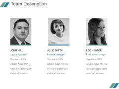 Team Description Ppt PowerPoint Presentation Gallery