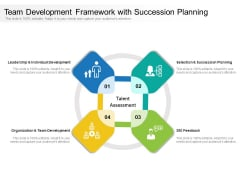 Team Development Framework With Succession Planning Ppt PowerPoint Presentation Styles Layouts PDF
