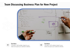 Team Discussing Business Plan For New Project Ppt PowerPoint Presentation File Background Image PDF