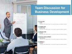 Team Discussion For Business Development Ppt PowerPoint Presentation File Files