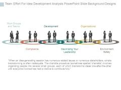 Team Effort For Idea Development Analysis Powerpoint Slide Background Designs