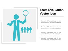team evaluation vector icon ppt powerpoint presentation infographics demonstration