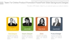 Team For Online Product Promotion Powerpoint Slide Background Designs