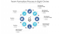 Team Formation Process In Eight Circles Ppt PowerPoint Presentation File Picture PDF