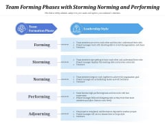 Team Forming Phases With Storming Norming And Performing Ppt PowerPoint Presentation Gallery Background PDF