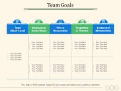 Team Goals Ppt PowerPoint Presentation Ideas Summary