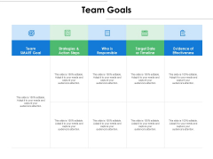 Team Goals Ppt PowerPoint Presentation Infographics Mockup
