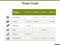 Team Goals Template 1 Ppt PowerPoint Presentation Infographic Template Aids