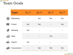 Team Goals Template 1 Ppt PowerPoint Presentation Styles Graphics Download