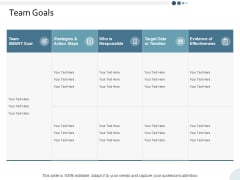 Team Goals Yearly Operating Plan Ppt PowerPoint Presentation Icon Rules