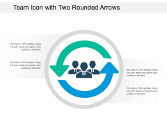 Team Icon With Two Rounded Arrows Ppt PowerPoint Presentation Pictures Structure PDF