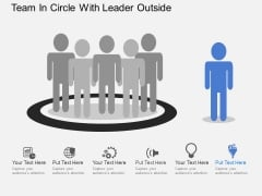Team In Circle With Leader Outside Powerpoint Templates
