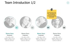 Team Introduction Planning Ppt PowerPoint Presentation Outline Gallery
