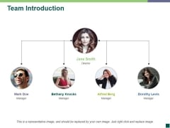 Team Introduction Ppt PowerPoint Presentation File Smartart