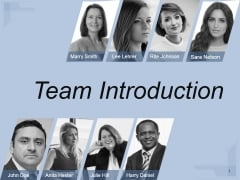 Team Introduction Ppt PowerPoint Presentation Sample