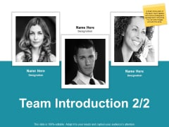 Team Introduction Strategy Ppt PowerPoint Presentation Outline Layout