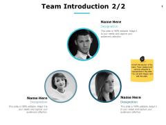Team Introduction Teamwork Ppt PowerPoint Presentation Show Demonstration