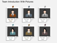 Team Introduction With Pictures Powerpoint Template