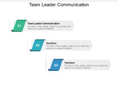 Team Leader Communication Ppt PowerPoint Presentation Inspiration Smartart Cpb