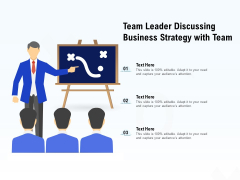 Team Leader Discussing Business Strategy With Team Ppt PowerPoint Presentation Portfolio Brochure