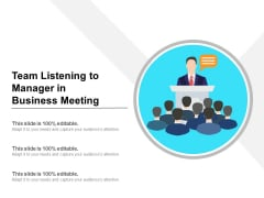 Team Listening To Manager In Business Meeting Ppt PowerPoint Presentation Professional Maker PDF
