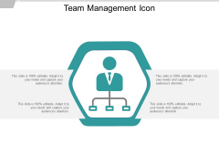 Team Management Icon Ppt PowerPoint Presentation Inspiration Master Slide