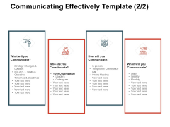 Team Manager Administration Communicating Effectively Template Leaders Icons Pdf