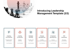 Team Manager Administration Introducing Leadership Management Template Change Management Ideas Pdf