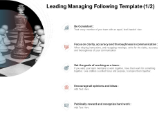 Team Manager Administration Leading Managing Following Template Be Consistent Guidelines Pdf