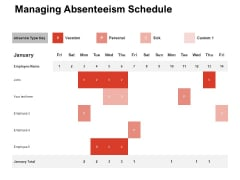 Team Manager Administration Managing Absenteeism Schedule Inspiration Pdf