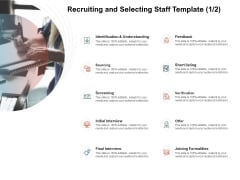 Team Manager Administration Recruiting And Selecting Staff Template Screening Portrait Pdf