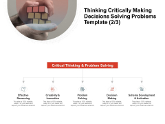 Team Manager Administration Thinking Critically Making Decisions Solving Problems Template Effective Reasoning Introduction Pdf