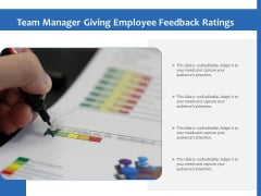 Team Manager Giving Employee Feedback Ratings Ppt PowerPoint Presentation Infographics Rules PDF
