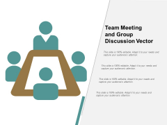 Team Meeting And Group Discussion Vector Ppt Powerpoint Presentation Professional Influencers