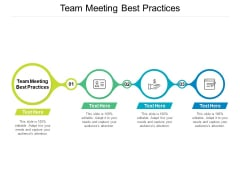 Team Meeting Best Practices Ppt PowerPoint Presentation Slides Portrait Cpb