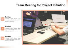 Team Meeting For Project Initiation Ppt PowerPoint Presentation Model Samples PDF