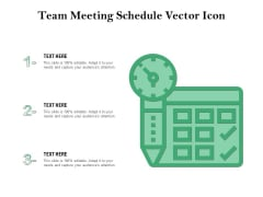 Team Meeting Schedule Vector Icon Ppt PowerPoint Presentation Gallery Maker PDF