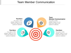Team Member Communication Ppt PowerPoint Presentation Gallery Background Image Cpb