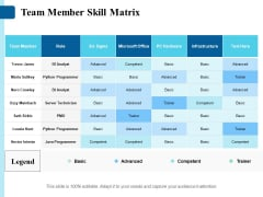 Team Member Skill Matrix Ppt PowerPoint Presentation Layouts Graphics Design