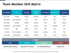 Team Member Skill Matrix Ppt PowerPoint Presentation Portfolio Graphics Design