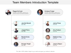Team Members Introduction Template Ppt PowerPoint Presentation Infographic Template Slideshow