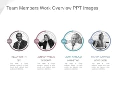Team Members Work Overview Ppt Images