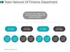 Team Network Of Finance Department Ppt PowerPoint Presentation Deck